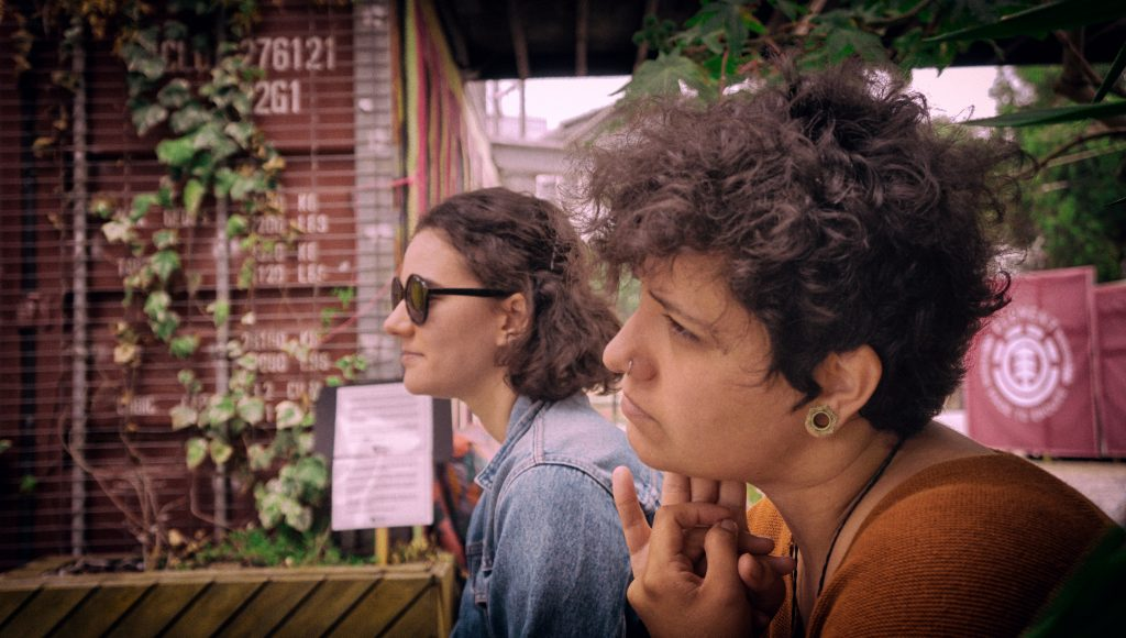 Caroline Lethô and Telma from Intera at Village Underground Lisboa by Sbrugens
